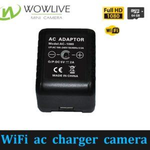 Best Quality 1080P US/EU/UK Wireless WiFi AC Power Charger Hidden Camera WF-1080AC