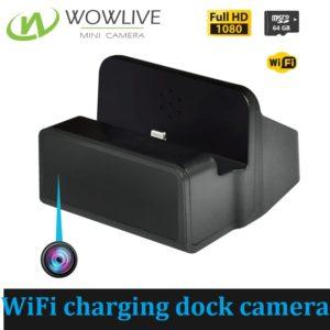 1080P Functional Wireless WiFi Charging Dock Hidden Camera WF-1080CDC