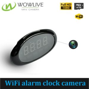 Mini 1080P WiFi Alarm Clock Camera WF-1080DAC