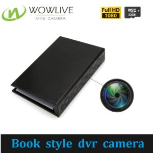 Book style 1 year standby PIR motion detection mini dvr hidden Camera DVR-1080BKC