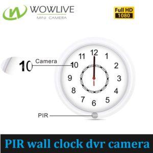 1080P 4200mah Battery Operated Wall Clock Hidden DVR Spy Camera DVR-1080PWC