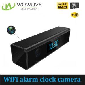 Mini 1080P FHD WiFi Alarm Clock Hidden Camera WF-1080DTC