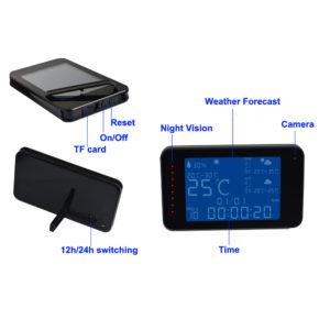 New 1080p wireless wifi weather clock hidden camera