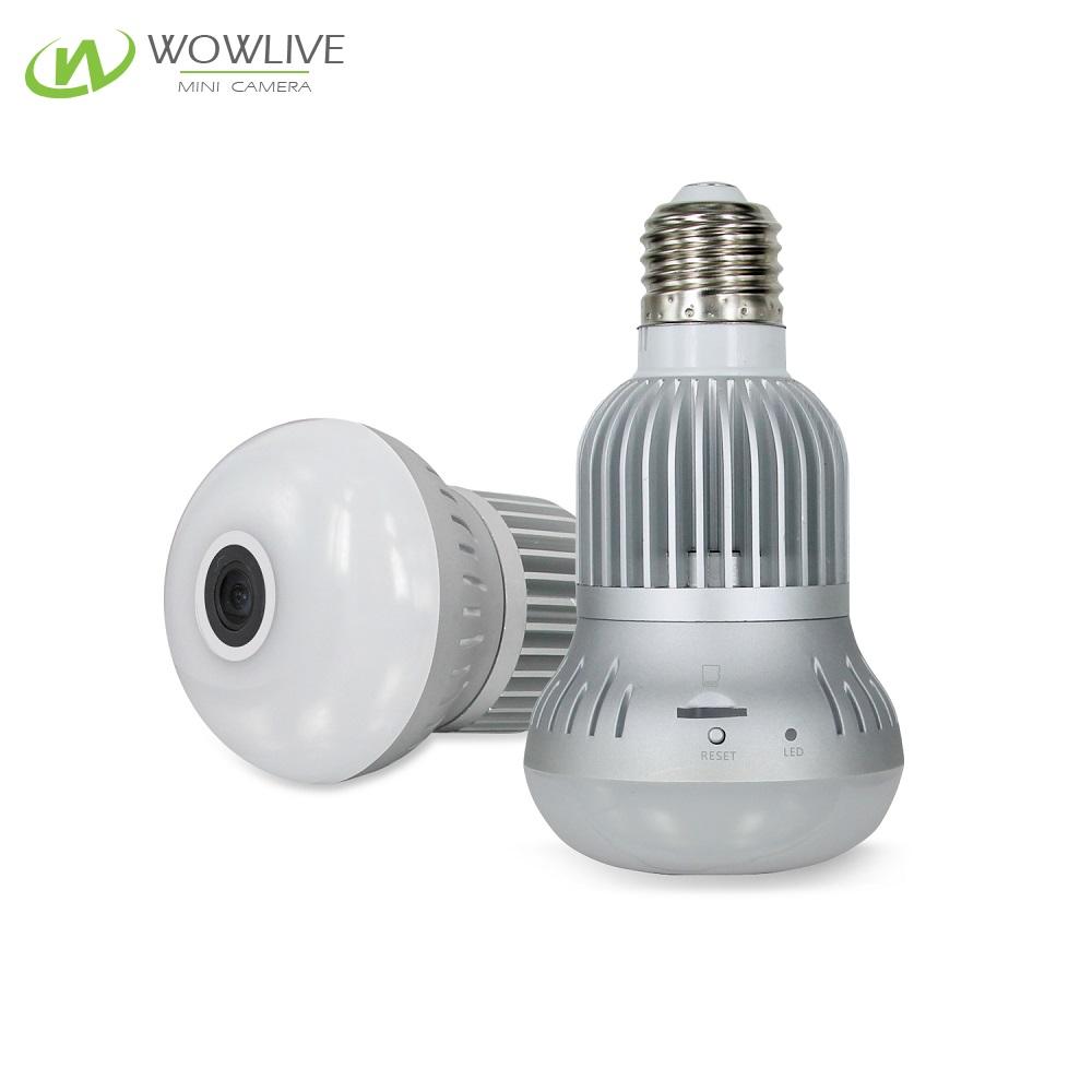 360°Panoramic Wireless WiFi Smart Bulb Light Security Camera - www