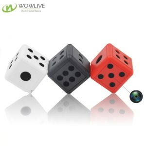 1080P Dice Spy Mini Hidden Camera Support Max 32GB With Battery Operat