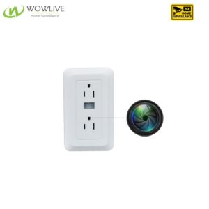 PIR Motion Detection Wall Outlet Hidden Camera Charger DVR-1080WOC